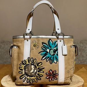 COACH LTD EDITION BUMBLEBEE & FLOWERS TOTE